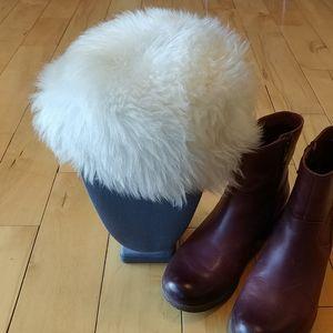Shearling Sheepskin fur hat
